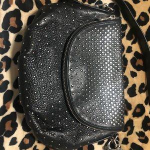Women's Black Natasha Studded Leather Crossbody